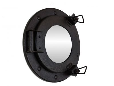 Antiqued Iron Porthole Mirror 9
