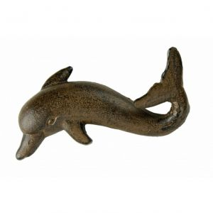 Rustic Iron Dolphin Key Hook 7
