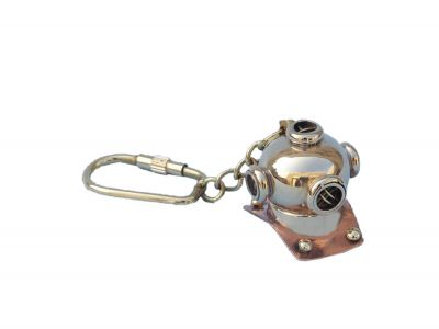 Solid Brass/Copper Diving Helmet Key Chain 5\