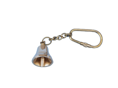 Solid Brass Bell Key Chain 4
