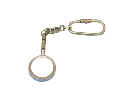 Solid Brass Handle Magnifier Key Chain 4