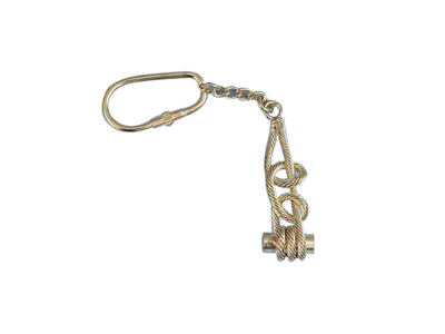 Solid Brass Round Turn-Two Half Hitches Key Chain 5