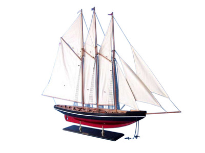 Wooden Atlantic Model Sailboat Decoration 50""