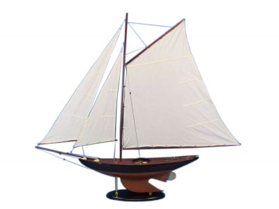 Wooden Newport Sloop Model Sailboat Decoration 50""