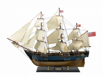 Wooden HMS Bounty Tall Model Ship 34""