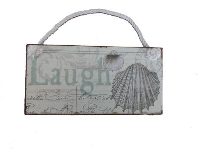Tin Laugh Sign 8""