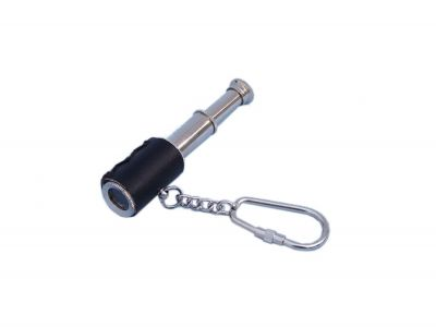 Chrome Spyglass with Leather Keychain 6