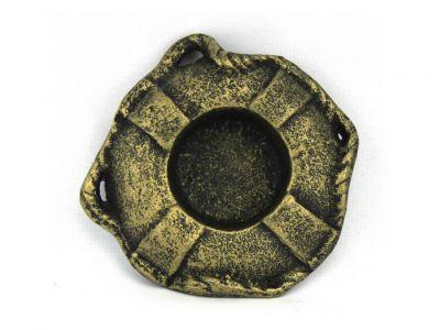 Antique Gold Cast Iron Lifering Decorative Tealight Holder 4\