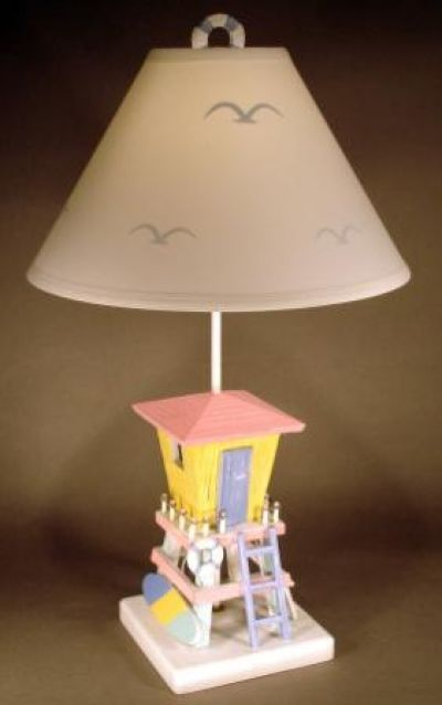 Lifeguard Shack Electric Lamp 26