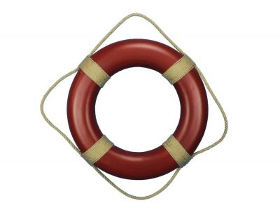Red Decorative Life Ring Wall Plaque 20