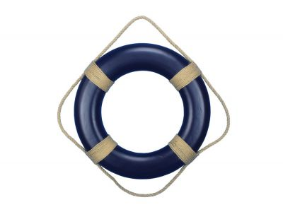 Blue Decorative Decorative Life Ring Wall Plaque 20