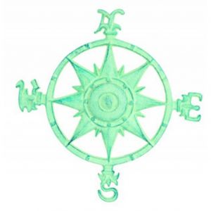 Light Blue Cast Iron Rose Compass 12