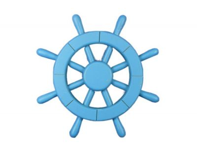 Light Blue Ship Wheel 12