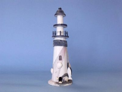 Wooden White Net and Rope Lighthouse 15