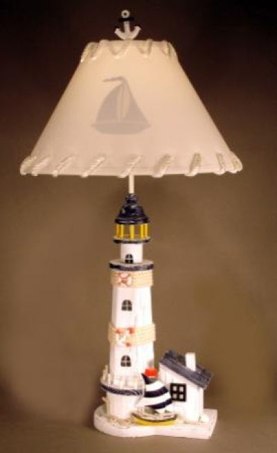 Lighthouse and  Sailboat Electric Lamp 33