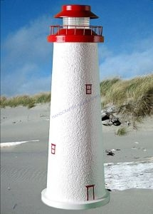 Marblehead Stucco Low-Voltage Landscape Lighthouse 24