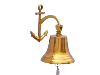Brass Hanging Anchor Bell 12