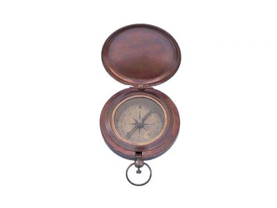 Bronzed Captains Push Button Compass 3\