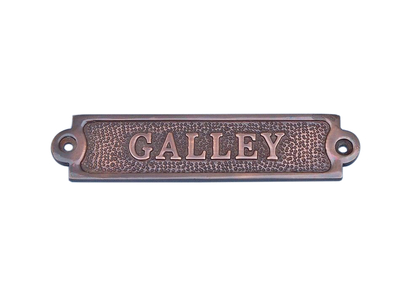 Antique Copper Galley Sign 6