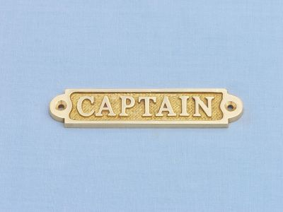 Brass Captain Sign 4
