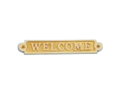 Solid Brass Welcome Sign 5