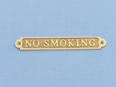 Brass No Smoking Sign 5