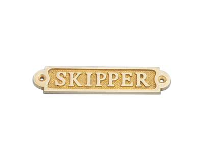 Brass Skipper Sign 5