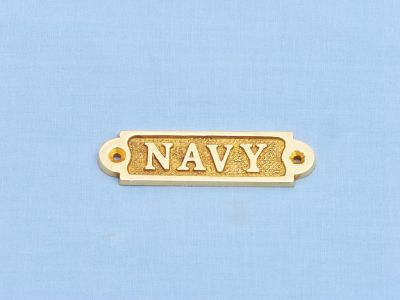 Solid Brass Navy Sign 3