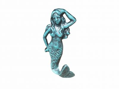 Seaworn Blue Cast Iron Mermaid Hook 6\