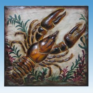 Metal Shellfish Beach Wall Art 16