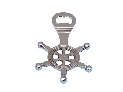Chrome Ship Wheel Bottle Opener 5