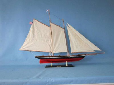 Wooden America Model Sailboat Decoration 50""