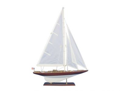 Wooden William Fife Model Sailboat Decoration 35""