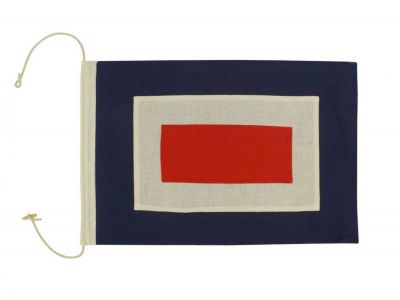 Letter W Cloth Nautical Alphabet Flag Decoration 20\