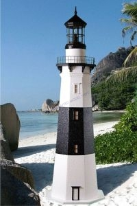 Montauk Stucco Electric Lawn Lighthouse 144