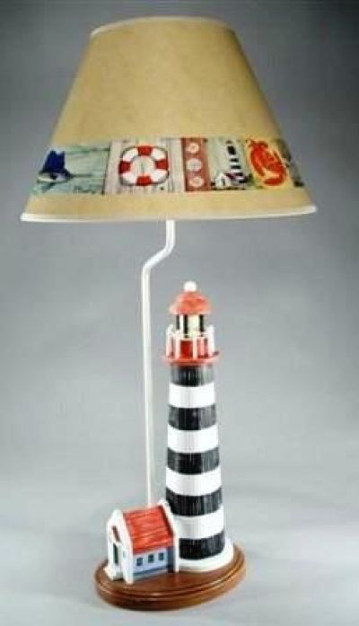 Nantucket Lighthouse Electric Lamp 32
