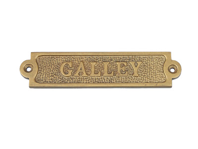 Antique Brass Galley Sign 6