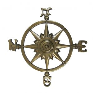 Antique Brass Rose Compass 23