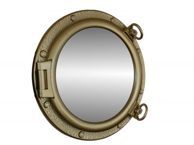 Gold Finish Porthole Mirror 20