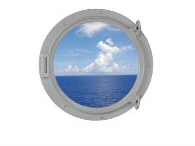 Gloss White Porthole Window 15