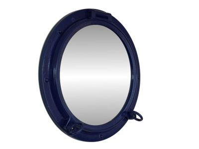 Navy Blue Porthole Mirror 15