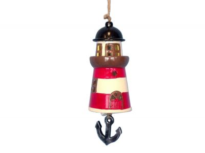 Ceramic Red Lighthouse Tower Bell 8