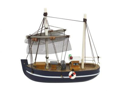 Wooden Fine Catch Model Fishing Boat 6""