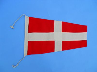 Number 4 - Nautical Cloth Signal Pennant - 20