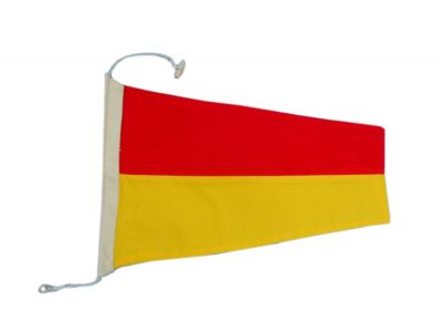 Number 7 - Nautical Cloth Signal Pennant - 20