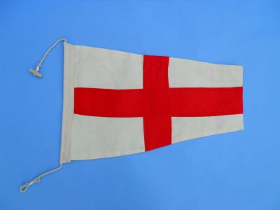 Number 8 - Nautical Cloth Signal Pennant - 20