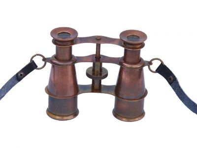 Scout\'s Antique Copper Binoculars 4""