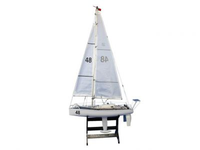 Ready To Sail Floating Sailboat 47""