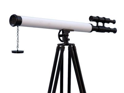 Floor Standing Oil-Rubbed Bronze-White Leather With Black Stand Griffith Astro Telescope 65\
