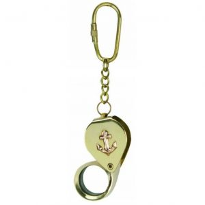 Solid Brass Anchor Magnifier Key Chain 4